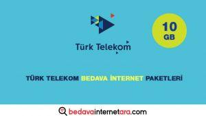 Türk Telekom Bedava internet Paketleri