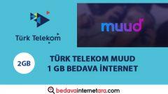 Türk Telekom Muud 1 GB Bedava internet Paketi