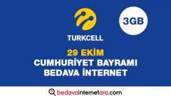 Turkcell 29 Ekim Bedava internet Kampanyası