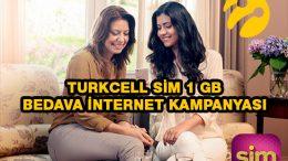 Turkcell Sim 1 GB Bedava internet Kampanyası