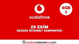 Vodafone 29 Ekim Bedava internet Kampanyası