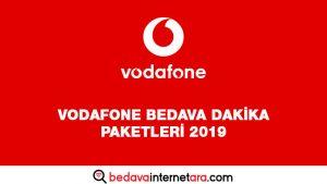 Vodafone Bedava Dakika Paketleri 2019